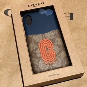 Coach iPhone X / XS Case with pocket